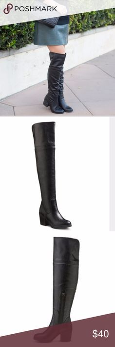 NWT Mossimo Black Anya Boot NWT These are year round boot, dress it up or wear it down, makeup artist these are for you, super comfy with a chunky heels. These are brand new. Back Slit.  Boot Shaft Circumference: Approximately 14.5 inches Boot Shaft Height: Approximately 21.0 inches Heel: Approximately 2.5 inches Block heel; Width: Medium Mossimo Supply Co. Shoes Over the Knee Boots