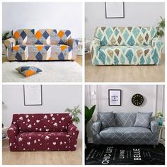 UNIVERSAL SOFA COVER ELASTIC COVER – KawayMigi Diy Couch, Diy Furniture Couch, Teal Painted Furniture, Baby Sofa, Three Seater Sofa, Couch Covers, Corner Sofa, Betta, Home Living Room