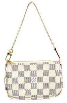 Louis Vuitton Mini Pochette Accessory Hand Damier Azur Clutch. Get the trendiest Clutch of the season! The Louis Vuitton Mini Pochette Accessory Hand Damier Azur Clutch is a top 10 member favorite on Tradesy. Save on yours before they are sold out!