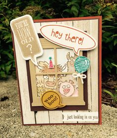A Stampin' Up! From the Herd Birthday card for a friend