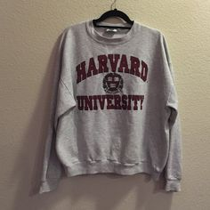 Vintage Harvard University Men's xl but fits like a women medium/large oversized. Crew neck. Amazing condition. Make me an offer!! Harvard Tops