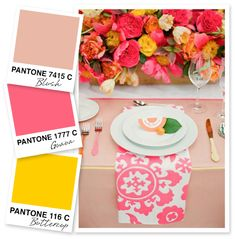 Pink and Yellow Color Palette by Sarah Hearts