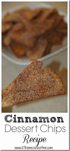 Cinnamon Dessert Chips Recipe - these are sooooo yummy and EASY to make! They are a fun snack, easy dessert, and perfect dessert for mexican food (or anything else really)
