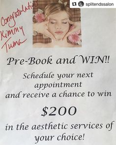 #Repost @splitendssalon l ・・・ The drawing is in for prebooking your appointments…
