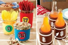 and Easy Superbowl Party Decorating Idea!, Quick and Easy Superbowl Party Decorating Idea!, Quick and Easy Superbowl Party Decorating Idea! Football Food, Football Names, Football Banquet, Football Parties, Football Baby, Football Pictures, Super Bowl Sunday, Sports Party, Healthy Meals For Two