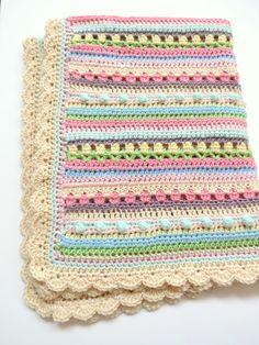 Crochet Baby Blanket Pattern - Baby Blanket Pattern - Crochet Baby Blanket - Confetti Baby Blanket by TheKnittingCloset on Etsy https://www.etsy.com/listing/221410746/crochet-baby-blanket-pattern-baby
