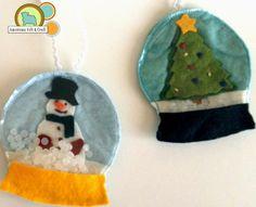 Felt Ornament                                               ~ Like Snow Globes ~~ CUTE  IDEA!