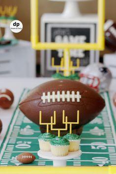 0c656b83e93e Indoor football picnic setting. Football party ideas. Football tablescape.  Football party decoration. Football party decoration ideas. Super bowl  party.