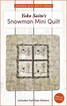 Yoko Saito's Snowman Mini Quilt Pattern