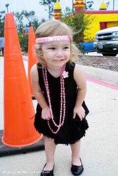 Easy Toddler Flapper Costume