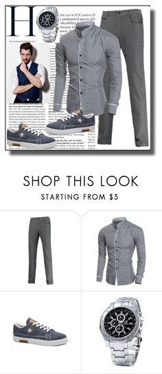"""""""Edging Design Long Sleeve Grandad Collar ShirtRosegal II/38"""" by dzemila-c ❤ liked on Polyvore featuring rosegal"""