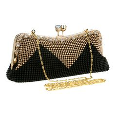 Evening Purses Sparkly Clutch Bags for Weddings – Luxy Moon Sparkly Clutches, Large Clutch Bags, Wedding Purse, Gifts For Your Mom, Types Of Fashion Styles, Style Fashion, Evening Bags, Evening Party, Shoulder Handbags