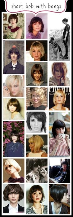 Celebrating THE BOB Hairstyle: Short Bobs with Bangs