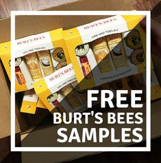 We're sending out free Burt's Bees samples! Click the pin to tell us where to ship your sample! #FreeSamples