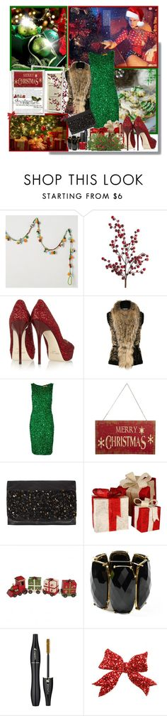 """""""The Office *Christmas Party Attire"""" by sherieme ❤ liked on Polyvore featuring Pier 1 Imports, Jimmy Choo, Roberto Cavalli, Alice + Olivia, John Lewis, AllSaints, Amrita Singh and Lancôme"""