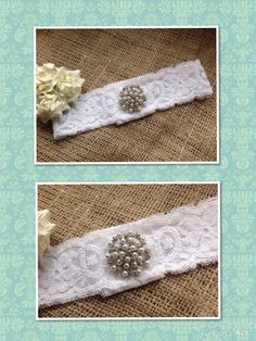 Handmade bespoke wedding garter from Lilly Dilly's #wedding #garter #lace #vintage #bespoke #handmade #luxury #couture #pearls