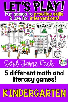 Are you looking for games and interventions to practice phonemic awareness, phonics, CVC and CVCe blending, addition and subtraction math facts, number writing, counting, and more? Let's Play is a fun way to practice these skills in a game-based format during whole-class time, morning meetings, reading groups, or one-on-one intervention time either through distance learning or in-person teaching.