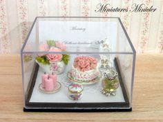 Miniature Dollhouse Shabby Chic Decoration Set Gift by Minicler