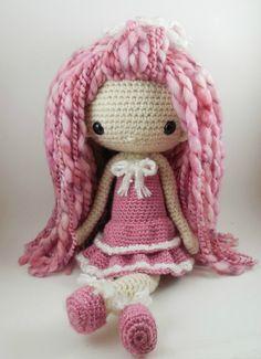 "Lupita - Amigurumi Doll Crochet Pattern PDF available for sale on Etsy, 15"""