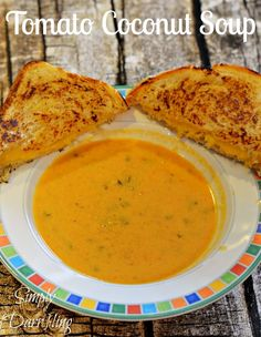 Dairy Free Tomato Coconut Soup. That bread also looks ridiculously delicious :(