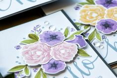 27 March 2017 : Yana Smakula : WPlus9 | Petunias and Peonies Cards