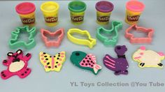 Fun Learning Play Doh Sparkle Animal Molds for Kids by YL Toys Collection