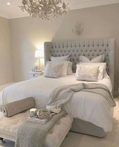 47 Stylish Design Ideas for the Master Bedroom Budget 47 Style . - 47 Stylish design ideas for the master bedroom budget 47 Style Modern Staircase Budge - Small Master Bedroom, Master Bedroom Design, White Bedroom, Bedroom Designs, Master Bedrooms, Teen Bedroom, Master Suite, Summer Bedroom, Cozy Bedroom