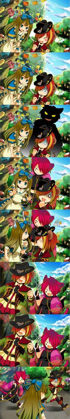 Heart no Kuni no Alice chibi chase ^-^