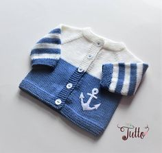 Anchor sweater sailor sweater wool cardigan baby boy sweater blue and white jacket newborn sweater MADE TO ORDER Ankerpullover Matrosenpullover Wolljacke Babyjungenpullover Baby Girl Sweaters, Boys Sweaters, Winter Sweaters, Baby Cardigan Knitting Pattern, Baby Knitting Patterns, Hand Knitting, Merino Wool Sweater, Wool Cardigan, Storch Baby