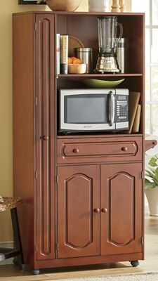 Amish Oak Microwave Stand With Hutch 6320 Ideas For Home