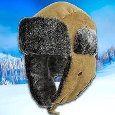 2697cebebbb77 Khaki Corduroy Vegan Fur Ushanka Aviator Eskimo Trapper Hat