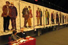 Atelier YT, textile mementoes: Open European Quilt Championships 2014, Veldhoven, Netherlands - exhibition visit