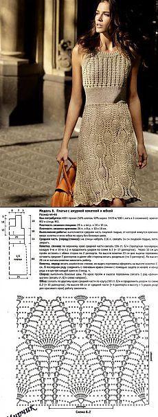 Стильное платье крючком. Вязание крючком с подиума | Все о рукоделии: схемы, мастер классы, идеи на сайте labhousehold.com