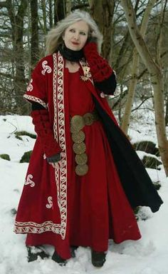 Lovely red ensemble! Love this especially the soutache or embroidery work.