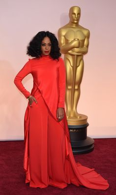 Solange Knowles in Christian Siriano. Oscars 2015: Celebrity Fashion—Live from the Red Carpet – Vogue