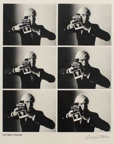 Andy Warhol with camera, 1974 Oliviero Toscani