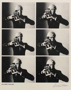 Andy Warhol with camera, 1974 Oliviero Toscani