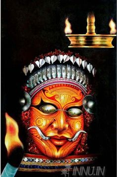 Buy Fine art painting Theyyam Art Form