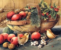 Marjolein Bastin - Dutch illustrator pictures ✽ Relaxing Chill Out Music Christmas Baskets, Christmas Art, Xmas, Christmas Illustration, Illustration Art, Marjolein Bastin, Nature Sketch, Nature Artists, Dutch Artists