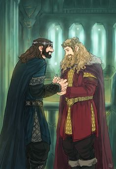 'this is thorin's ring…' 'you're the heir. and now you're the king. it's yours.' _ based on this old sketch from almost year ago.after...