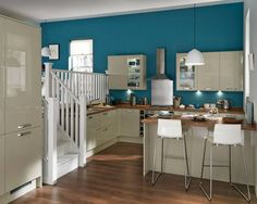 This elegant colour works well with modern design touches. Install half carousels in your corner cupboards to maximise space that would otherwise be difficult to reach. Create your Greenwich Gloss kitchen with Howdens. Ranger, Free Kitchen Design, Gloss Kitchen, Corner Cupboard, Maximize Space, Kitchen Collection, Beautiful Kitchens, Modern Design, Home And Garden