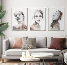 Beautiful art prints illustrated by Norwegian artist and designer Linda Skaret, available in several sizes. Living Room Interior, Living Room Decor, White Furniture, Scandinavian Style, Painting & Drawing, Gallery Wall, Beautiful Ladies, Art Prints, Drawings