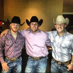 Cody Johnson, Casey Donahew, and Aaron Watson....three of my favorite people!!
