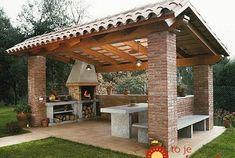 55 comfort covered patio ideas for your outdoor space 55 Backyard Patio Designs, Patio Ideas, Yard Ideas, Bbq Area, Unique Gardens, Planer, Garden Landscaping, Pergola, Construction