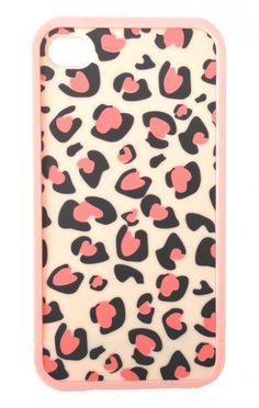 Iphone 4 hoesje Pink Leopard  www.ohsohip.nl