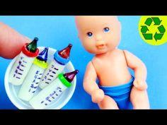 DIY | Miniatura Biberón mamadera mamila pepe chupón pacha tetero tetera en Miniatura para muñecas - YouTube