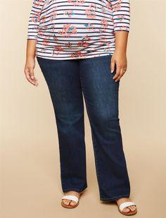 46a58b93e729f Motherhood Maternity Womens Super Stretch Secret Fit Belly Boot Cut Denim  Jean Dark wash 1X -