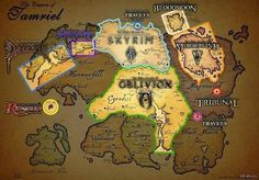 The Elder Scrolls map