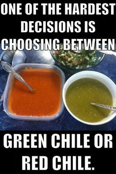 Red or green....