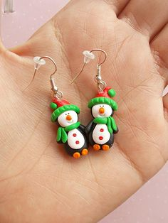 Christmas Earrings Christmas Gift Ideas Penguin Earrings